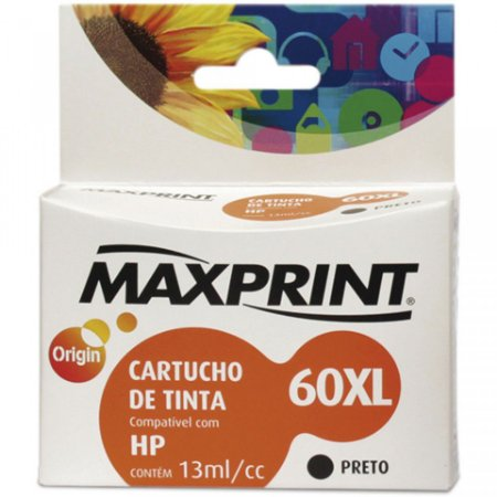 CARTUCHO MAXPRINT PARA HP PRETO (60XL) 13ML