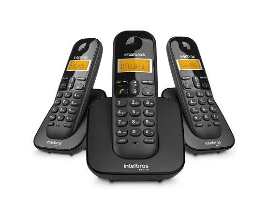 TELEFONE SEM FIO INTELBRAS TS3113 PRETO + 2 RAMAL