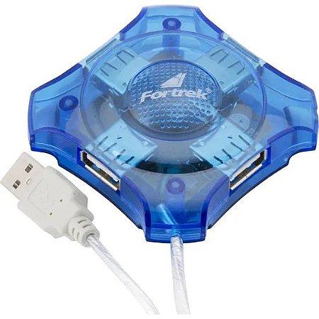 HUB USB 2.0 4 PORTAS FORTREK ESTRELA HBU401 CABO 0.70CM