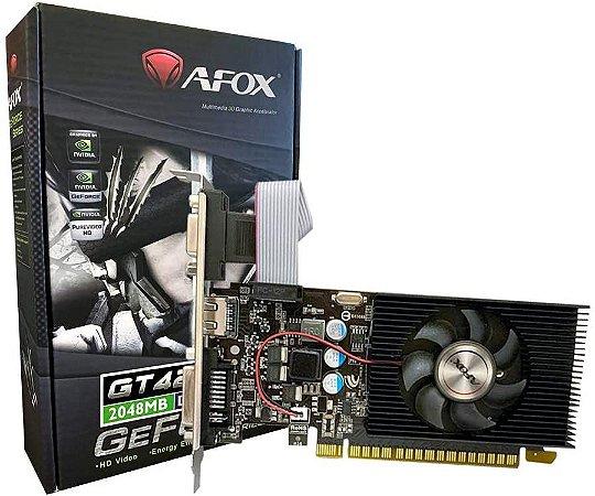 PLACA DE VÍDEO 2GB DDR3 GEFORCE GT 420 AFOX
