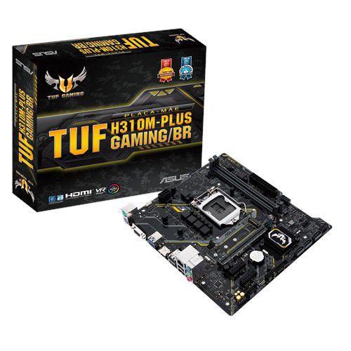 PLACA-MÃE ASUS H310M-PLUS GAMING S/V/R 1151 DDR4 HDMI