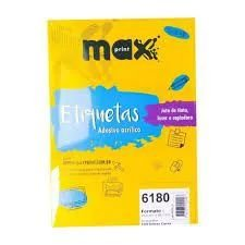 ETIQUETA INK/LASER MAXPRINT 6180 25.4X66.7 100 FLS 492166
