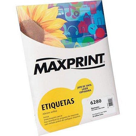 ETIQUETA INK/LASER MAXPRINT 6280 25.4X66.7 25 FLS