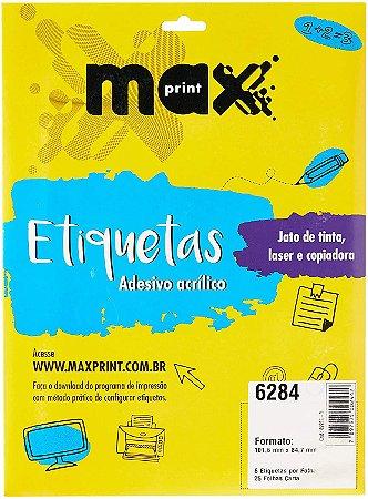 ETIQUETA INK/LASER MAXPRINT 6284 101.6X84.7 25 FLS
