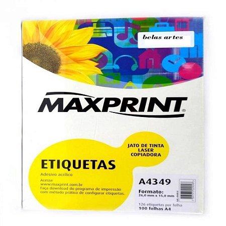 ETIQUETA INK/LASER MAXPRINT A4349 26X15 100 FLS 494408