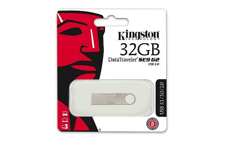 PEN DRIVE 32GB DTSE9G2/32GB KINGSTON DATATRAVELER PRATA 3.0