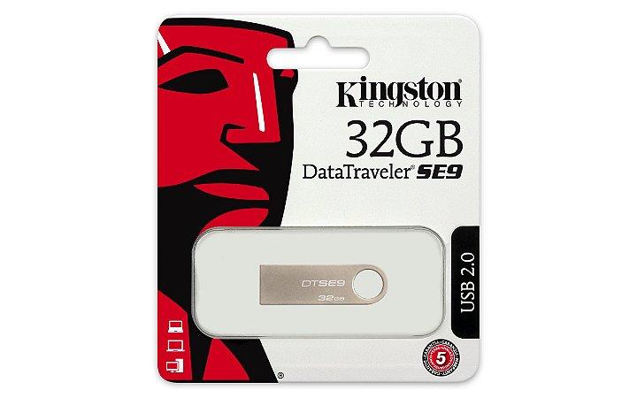 PEN DRIVE 32GB DTSE9H/32GBZ KINGSTON DATATRAVELER PRATA