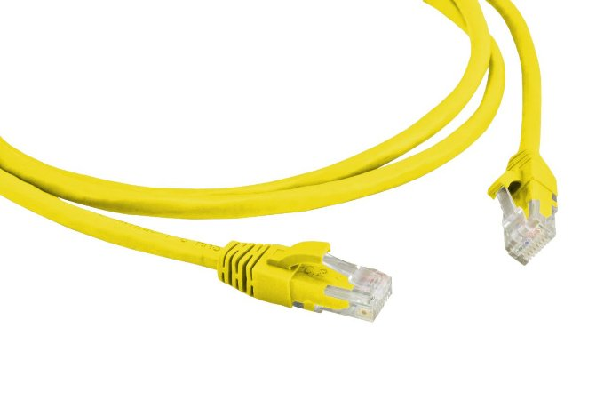 PATCH CORD 2.5M CAT6 CABLIX AMARELO