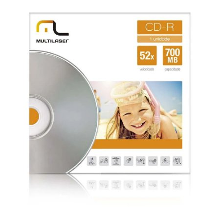 CD-R ENVELOPE PAPEL MULTILASER 52X 700MB CD006