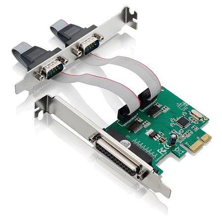 PLACA CONTROLADORA PCI-E 2SERIAL/1 PARALELA MULTILASER GA128
