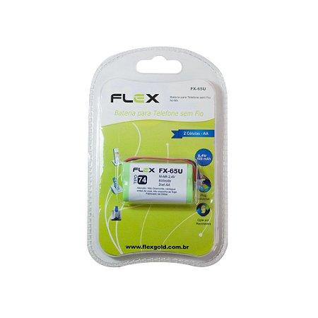 BATERIA PARA TELEFONE FLEX FX-65U 2.4V 600MAH