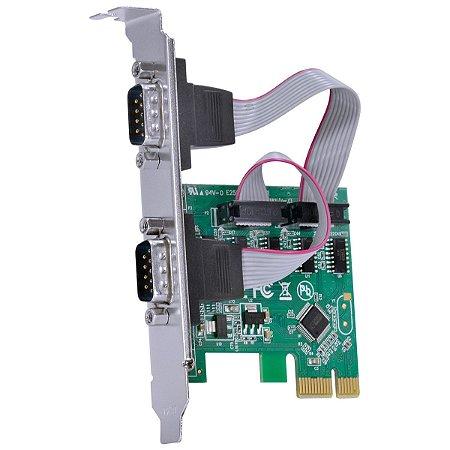 PLACA CONTROLADORA PCI-E 2 SERIAL RS232 VINIK P2IE-LP
