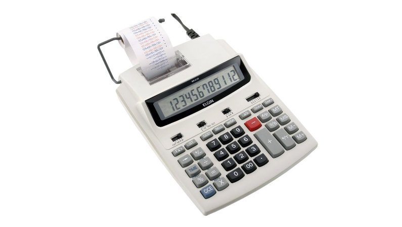CALCULADORA COM BOBINA ELGIN 12 DÍGITOS VISOR DIGITAL MR6125
