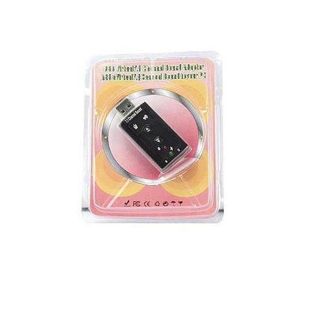 ADAPTADOR DE SOM 7.1 USB AD0021CH