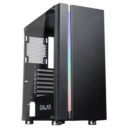 GABINETE GAMER GALAX QUASAR PRETO RGB GX600 SEM FONTE
