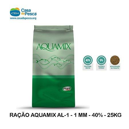 RAÇÃO AQUAMIX AL-1 - 1 MM - 40% - 25KG