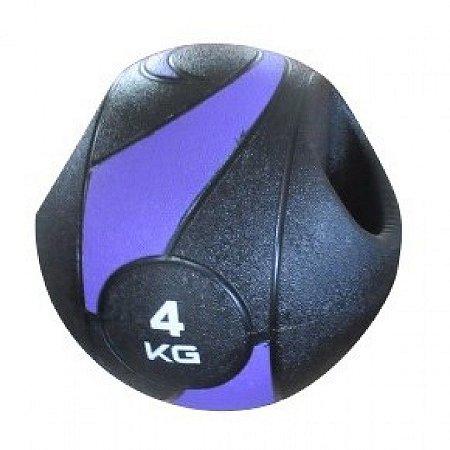 Bola De Peso Medicine Ball Com Pegada 4kg
