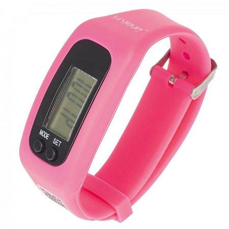 Relógio Pedômetro Rosa Liveup Sports