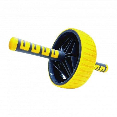 Roda Abdominal Amarela com Pegada Anatômica Liveup Sports
