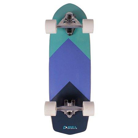 Skatesurf Skate Simulador de Surf Mormaii Swingboard Azul