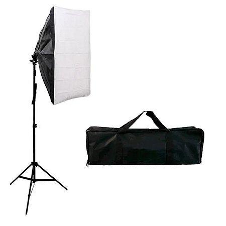 Kit de Iluminação Softbox 50x70cm com Tripé e Bolsa