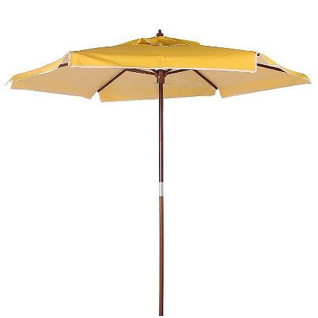 Ombrelone Madeira Guarda Sol 2 metros Itapema Amarelo