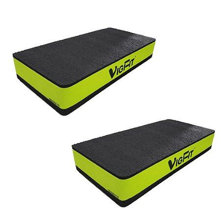 Step Academia EVA 60x30x10 cm Verde - Kit com 2
