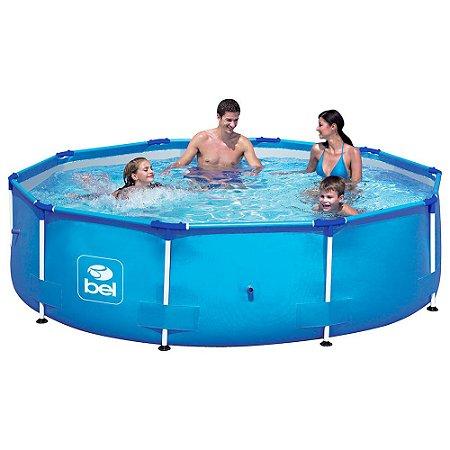 Piscina Estrutural 5000 Litros 3m Azul Bel Fix