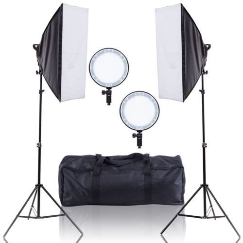 Kit Estúdio Iluminador LED Circular 126 com Softbox 50x70cm - 600w
