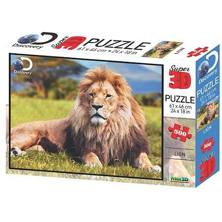Quebra Cabeça 500 Peças 3D Leão