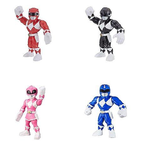 4 Bonecos Power Rangers Mega Mighties Playskool Heroes