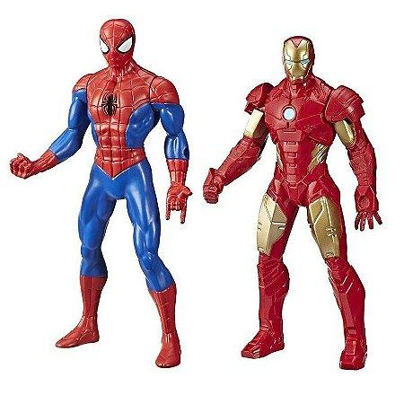 Kit Boneco Vingadores Homem De Ferro E Homem Aranha Marvel