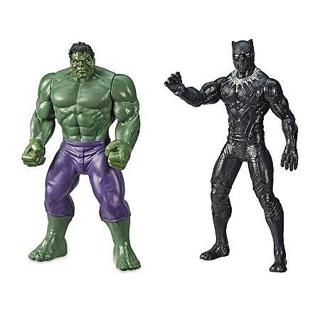 Kit Boneco Vingadores Hulk e Pantera Negra Marvel