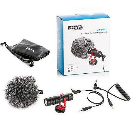 Microfone Condensador Boya BY-MM1 Direcional Mini