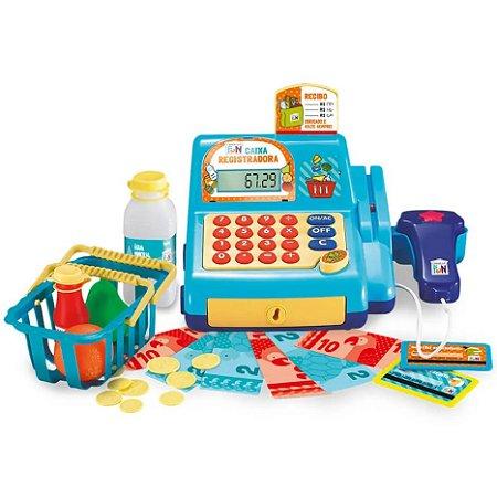 Caixa Registradora Infantil de Menino - Azul
