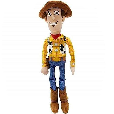 Woody Boneco de Pelúcia Toy Story 30cm com Som