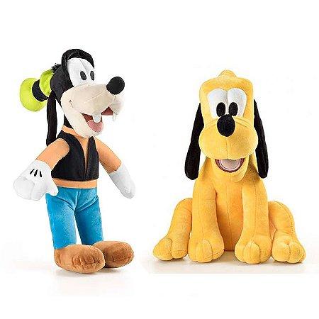 Pateta e Pluto de Boneco de Pelúcia Disney 33cm com Som
