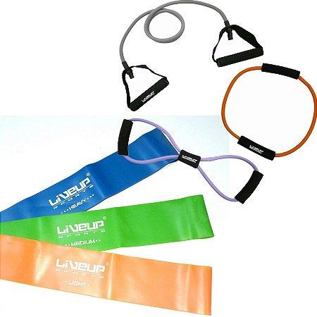 Kit Fisioterapia Treinamento Funcional com Elástico