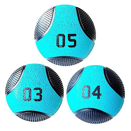 Kit Medicine Ball 3 4 e 5Kg Bola de Pilates