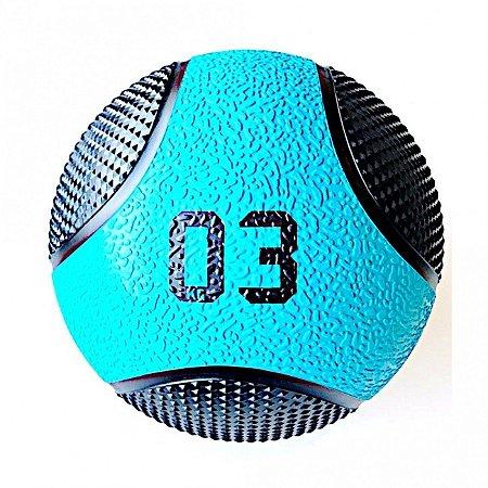 Medicine Ball 3Kg PRO - Bola de Pilates para Treino Funcional