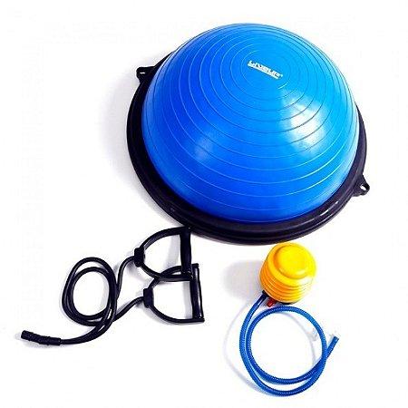 Meia Bola de Pilates Equilíbrio com Elásticos Liveup