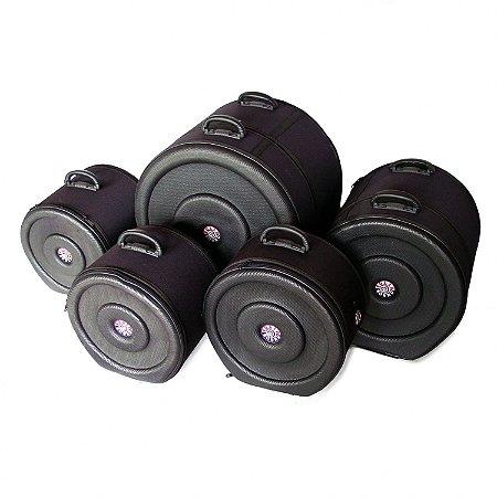 Kit Semi Case 5 Peças para Bateria Solid Sound