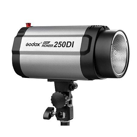 Flash Para Estúdio Fotográfico Godox 250DI Tocha 250w 110v