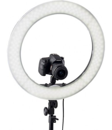 Kit Iluminador LED Ring 18 Circular Foto Make com Tripé