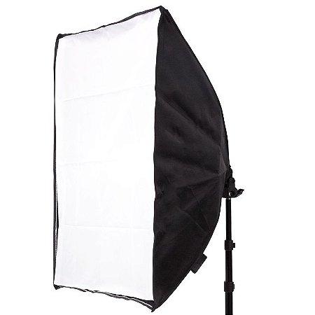 Softbox 50x70cm com Soquete E-27 Embutido para Estúdio Fotográfico