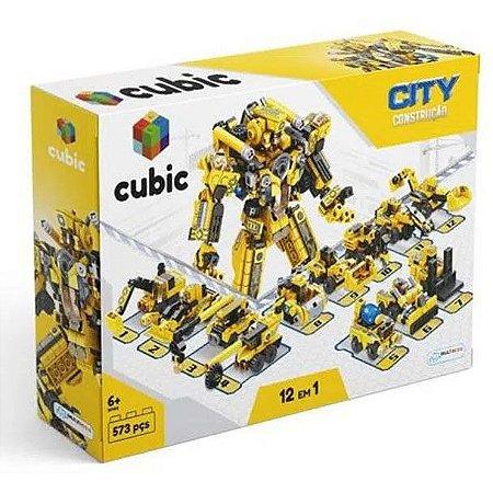 Bloco de Montar Construção Cubic 573 Peças