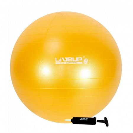 Bola Suíça Premium - 75cm - Amarela - Liveup Sports