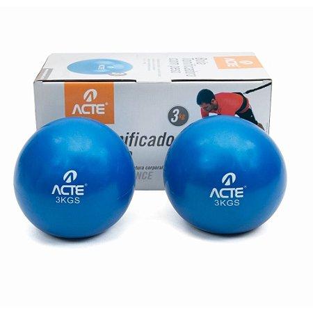 Toning Ball 3Kg - Bola Tonificadora - Par ACTE