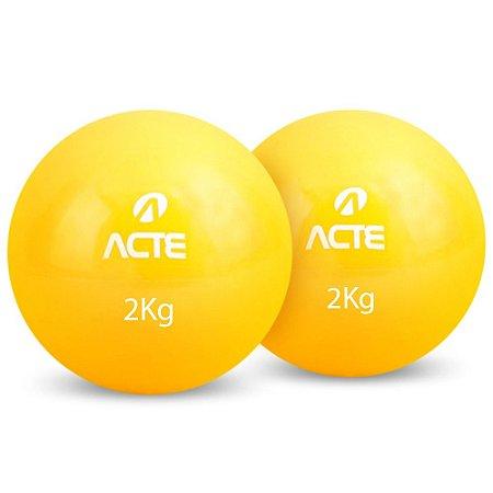Toning Ball 2Kg - Bola Tonificadora - Par ACTE