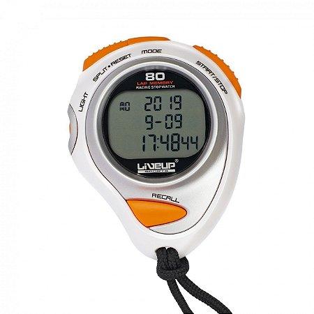 Cronômetro 80 Lap Digital com Alarme e Relógio Liveup